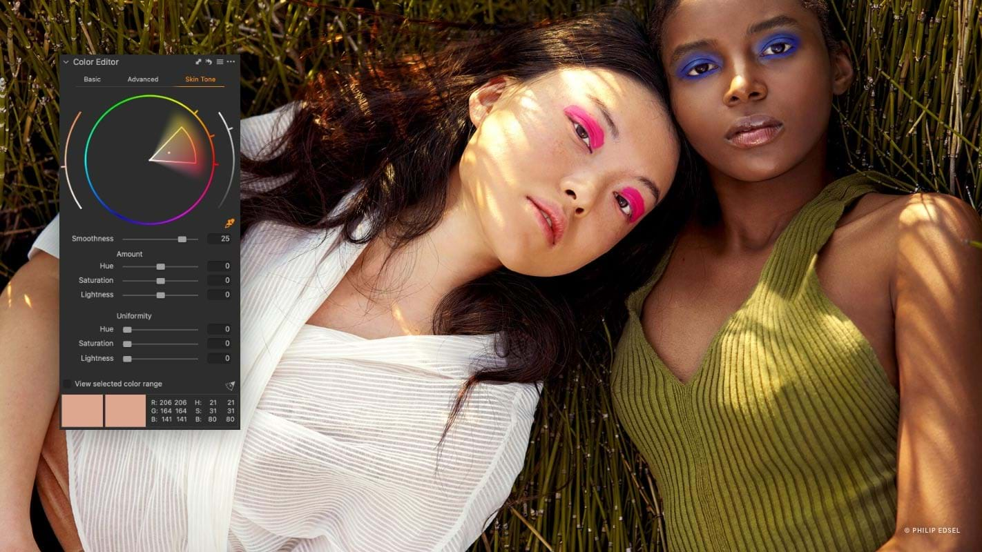 Capture One Raw Photo Editor Feature Page Color Controle Skin Tone Editing