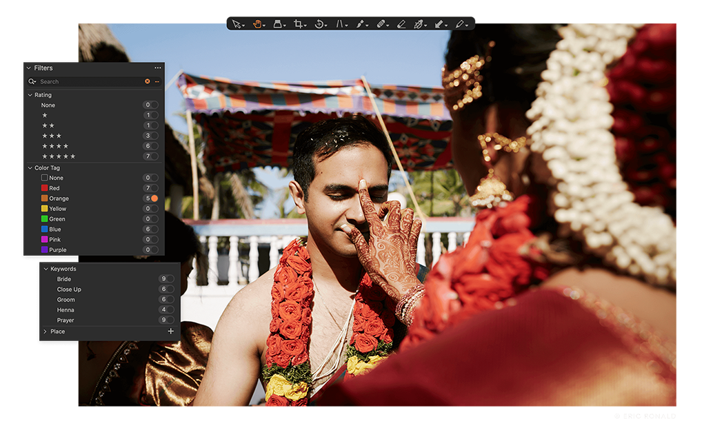Capture One Raw Photo Editor brand Feature stay on top of projects and files